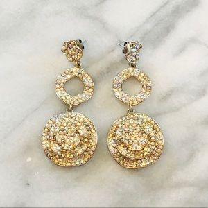 Pageant or Formal Iridescent and Gold Earrings